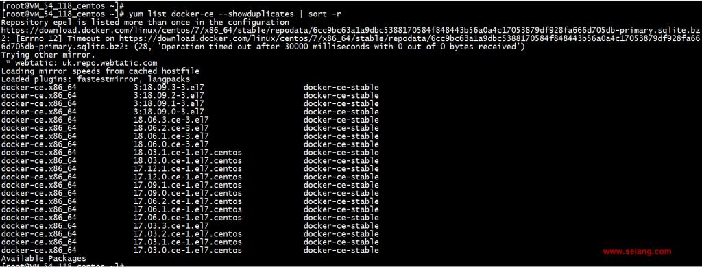 【Docker系列】CentOS 7安装docker 18.09