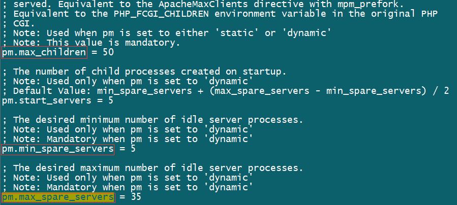 解决Linux下php-fpm进程过多导致内存耗尽问题